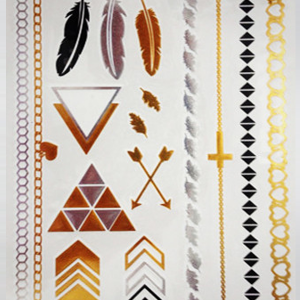 Native Feather Flash Tattoos