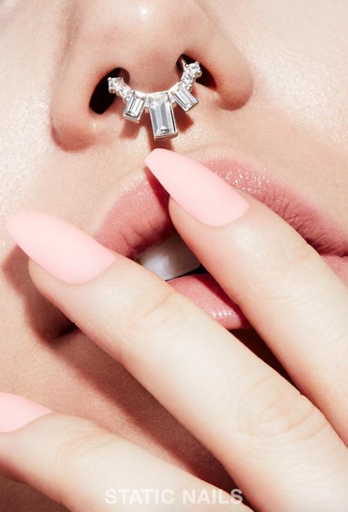 nude peach nails