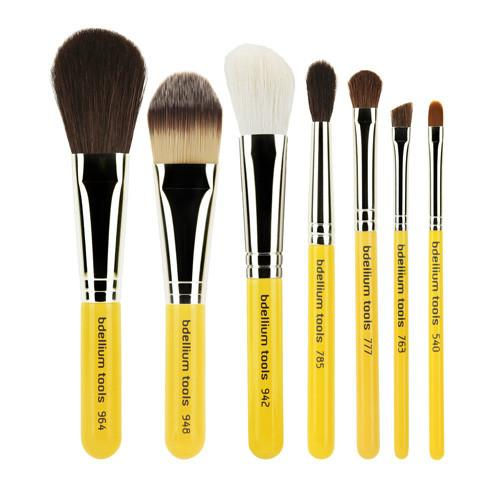 TRAVEL BASIC 7PC. BRUSH SET WITH ROLL-UP POUCH