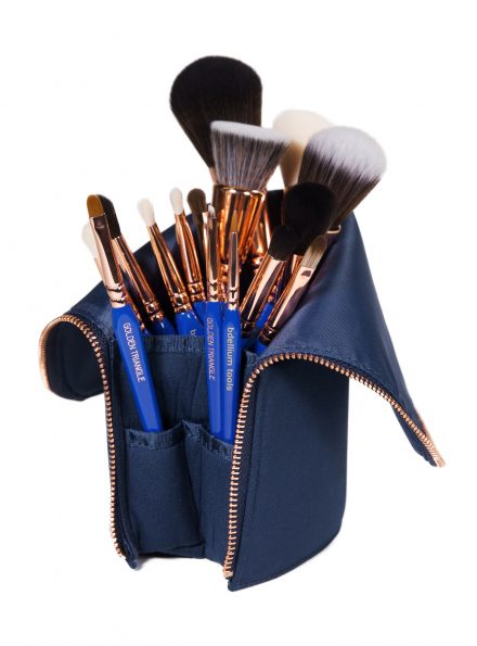 BDELLIUM TOOLS GOLDEN TRIANGLE PHASE I COMPLETE 15PC. BRUSH SET WITH POUCH