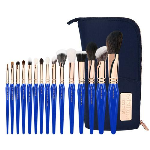 BDELLIUM TOOLS GOLDEN TRIANGLE PHASE III COMPLETE 15PC. BRUSH SET WITH POUCH